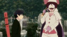 Gif. I swear every joke I tell my friends ends with me acting like Mephisto Pheles and everyone else acting like Rin Okumura.