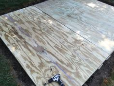 plywood and chalklines