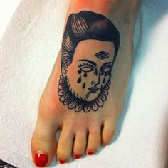 lady from my flash on tootsie, brave foot! Thank you! #lady #foot #tootsie #blacktattoo #feminismlol #crycrycrybitch #tattoo #ink #facetattoo #girltattoo #witch #witchcraft #fuckthechurch #imtired