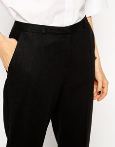 Image 3 of ASOS Slim Cigarette Linen Pants
