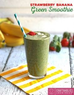 Happy New Year everyone! It's Jenny from Honey and Birch, back again with a new recipe. This time, I have your new year's resolutions in mind. The post Strawberry Banana Green Smoothie Recipe appeared