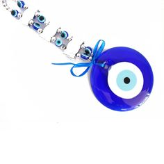 This protection charm has one blue big evil eye decorated with 3 rows of medium size evil eyes with a lot of small evil eyes as the beads. Evil eyes can see the evil spirits and keep you away evil spirits. Evil eyes also can guard you from jealousy. Feng Shui Cures, Evil Spirits, Eye Protection, Evil Eye, Blue Eyes, Washer Necklace, Amulets, Charmed, Stuff To Buy