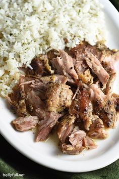 Cuban PorK with orange & lime juice. Slow cooked all day until the meat shreds effortlessly, this Slow Cooker Cuban Pork is so delicious and perfect served over rice, in tacos, or as sandwiches. Crock Pot Slow Cooker, Crock Pot Cooking, Slow Cooker Recipes, Crockpot Recipes, Cooking Recipes, Slow Cooker Pork Roast, Pork In Crock Pot, Slow Cooked Pork Loin, Cooking Pork