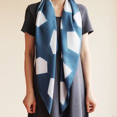 These silky bamboo scarves are hand-dyed one at a time using the Japanese technique of Shibori.
