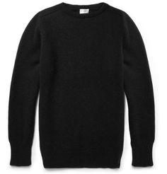 Saint Laurent Elbow-Patch Camel Sweater | MR PORTER