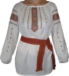 #вишиванка жіноча на домотканому полотні (Арт. 00501) Blouse, Long Sleeve, Sleeves, Tops, Women, Fashion, Dots, Embroidery, Moda