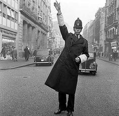 Policeman on point duty, Fleet Street, London, 1946-59
