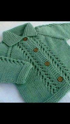 Ideas Crochet Cardigan Boy Jacket Pattern For 2019 Baby Cardigan Knitting Pattern Free, Baby Sweater Patterns, Knitted Baby Cardigan, Knit Baby Sweaters, Baby Knitting Patterns, Knitting Designs, Baby Patterns, Hand Knitting, Knitting Videos