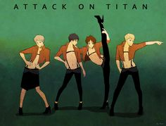 Attack on titan by mewwi12345 on DeviantArt   I love this waaaaay too much....