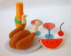 Felt food pattern A lovely meal by fairyfox, via Flickr