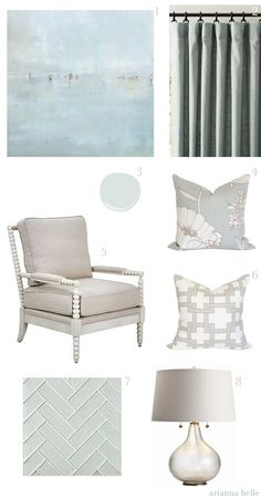 Chic Combination: Sea Mist + Greige by Arianna Belle for LDV. Features our Spindle Chair.