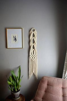 Small Macrame Wall Hanging Woven Wall Hanging Wall Hanging
