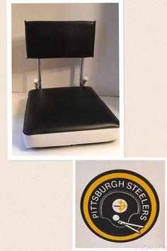 Folding Stadium Seat Chrome Vinyl NFL Vintage Football Pittsburgh Steelers | eBay