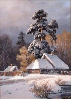 Зима - волшебница в творчестве  художника Дмитрия Колпашникова