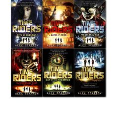 TimeRiders Collection Alex Scarrow 6 Books collection Set Time Riders Gates of Rome the Eternal War the Doomsday Code Days of the Predator TimeRiders
