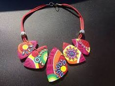 Image result for polymer clay necklace