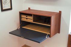Mid Century Danish Modern Teak Wall Unit Desk Royal System Cado design by Poul Cadovius