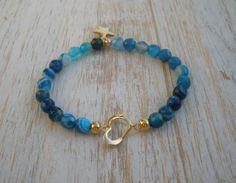 Pulsera Agata Blue