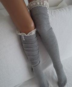Gray Socks Boot socks boot cuffs leg warmers