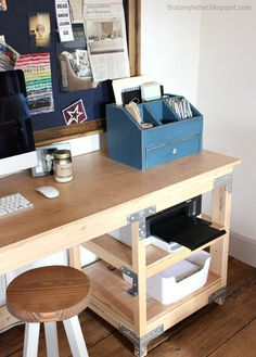 ana white build a desktop office or vanity beauty organizer free and easy diy ana white completed eco office desk