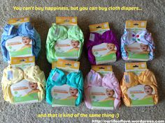 cloth diaper. happiness
