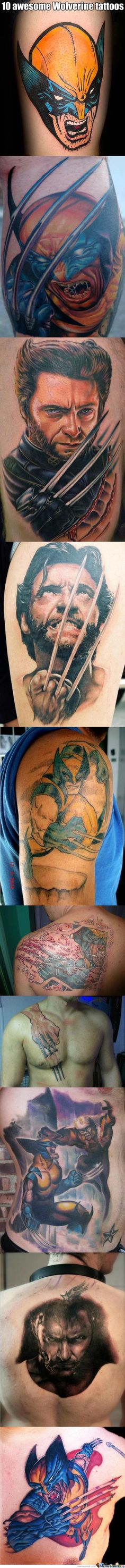 10 Awesome Wolverine Tattoos. (Sorry For The Long Post