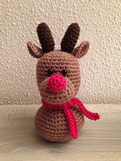 Rudolph the rednosed you-know-what! [from the Christmas busts patterns by Dendennis]