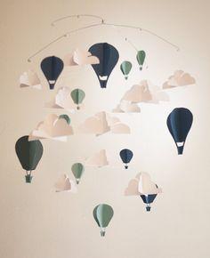 Papier Hot Air Balloon Mobile par LittleDovesDesign sur Etsy