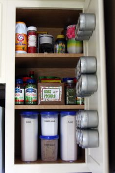 By the Stove cupboard organization! NEED IT!