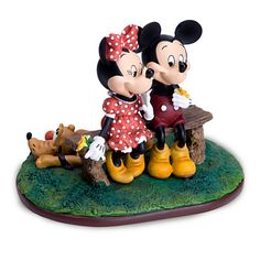 ''Puppy Love'' Mickey Mouse and Minnie Mouse Figurine