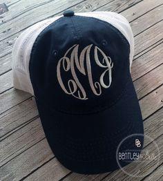 b9a20b807b6b0 Stylish Monogrammed Trucker Cap - Personalized Trucker Hat - Womens  Monogrammed Cap Hat