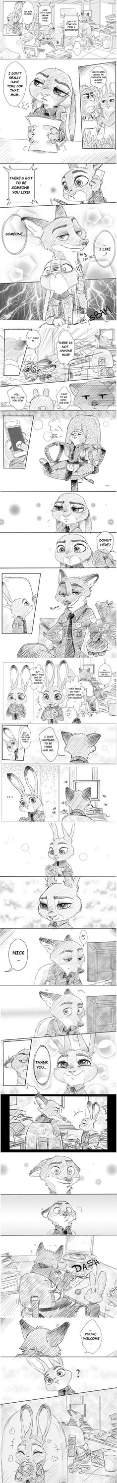 Boyfriend & Donut - Zootopia comic by Rem289 << AHHHHHHH OMG I LOVE THESE SO MUCH, I'm getting chills