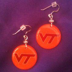 Licensed Collegiate Earrings  Virginia Tech by AnnPedenJewelry, $14.99