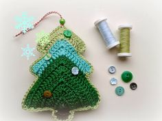 Annemarie's Haakblog: Link Your Stuff! Christmas tree pattern from crochet today