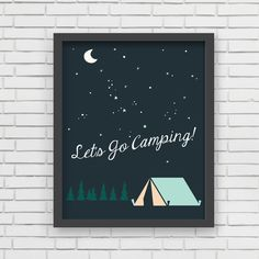 Let's Go Camping Art Print by Lucy Darling