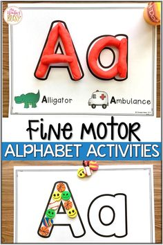 Fine motor alphabet activities are a fun learning center for preschool and kindergarten kids. In this blog post get free printables to use with your children today! #finemotorskills #alphabetactivities #kindergarten #preschool