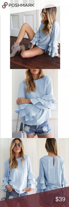 Cinderella blouse Cinderella blouse with ruffled sleeves material woven new without tags Tops Blouses