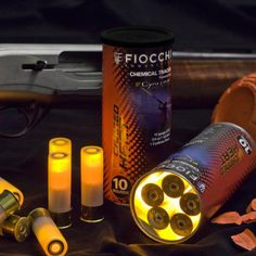 Fiocchi tracer ammo for skeet and trap training! This is so cool I can't wait to buy some! Non flammable, non toxic, safe for shotgun. Tactical Shotgun, Tactical Gear, Weapons Guns, Guns And Ammo, Rifles, Canned Heat, Survival Gear, Apocalypse Survival, Zombie Apocalypse