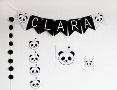 Panda Birthday Party, Panda Party, Baby Girl Birthday, First Birthday Parties, Birthday Party Themes, First Birthdays, Happy Birthday, Panda Decorations, Baby Shower Decorations