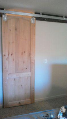 "My DIY Sliding Barn Door -- Reclaimed Oak Pallet 2x4"" for"