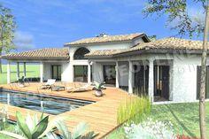 plan de maison en U mediterraneenne GALICE piscine2