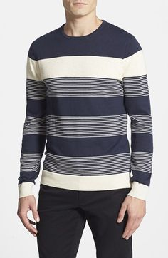 Vince Camuto Stripe Cotton & Cashmere Sweater available at #Nordstrom