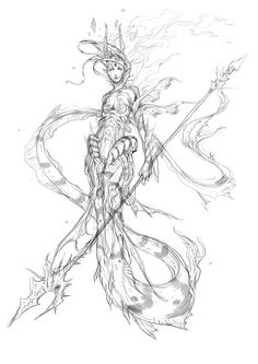 mermaid concept by muju ★ || CHARACTER DESIGN REFERENCES | キャラクターデザイン  • Find more artworks at https://www.facebook.com/CharacterDesignReferences & http://www.pinterest.com/characterdesigh and learn how to draw: #concept #art #animation #anime #comics || ★