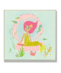 Mermaid in Her Shell Wall Plaque