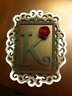 laser cut frame and letter from michaels initial for by my door - Wood Frames Michaels