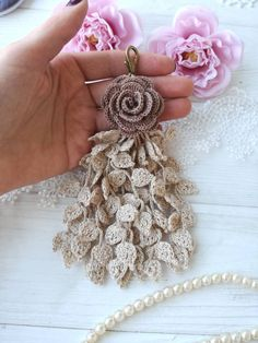 Your place to buy and sell all things handmade Wire Crochet, Crochet Cross, Freeform Crochet, Thread Crochet, Knit Crochet, Crochet Cat Pattern, Crochet Flower Patterns, Doily Patterns, Crochet Flowers