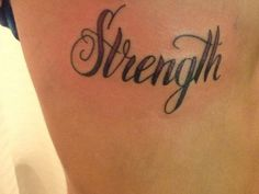Strength Tattoos For Girls | streangth 29 Strengthening Word Tattoos For Girls