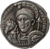 Konstantin d. Große, Medaillon, Silber, 315, Ticinum (oder Rom), 6,40 g