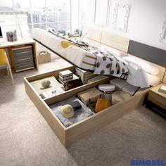 H536_Det02 Si necesitas muebles que aprovechan al máximo el espacio y te permiten almacenar todo lo que quieras, este es el tipo de cama (bañera) que está pensada para ti.