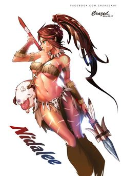 ✧ #characterconcepts ✧ Nidalee - (LoL) League of Legends